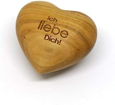 Herz mit Gravur aus Zierholz ideal als Geschenkidee und Gl/ücksbringer Du bist einzigartig! Spruch w/ählbar