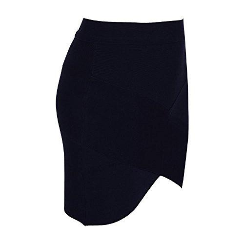 Irregular Sexy Bandage Mini HLBandage Women's Noir Skirt OEx5ZvFqw