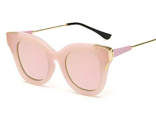 Semi Rimless sunglass UV Protect sunglasses reflective color film sunglasses,4. Powder frame Barbie ()