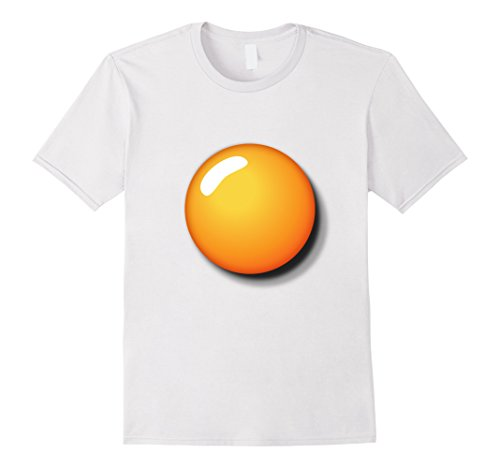 Mens Fried Egg Shirt Funny DIY Halloween Costume Ideas Egg Yolk Small (Male Diy Costume Ideas)
