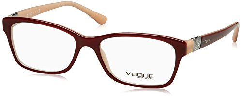 Vogue VO2765B Eyeglass Frames 2323-51 - Bordeaux/opal Powder - Glasses Frames Vogue Prices