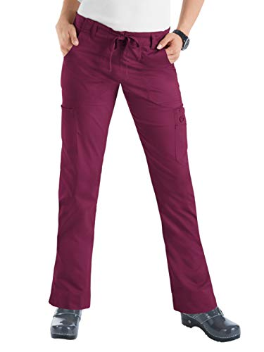 (KOI Stretch Women's Lindsey Scrub Pant Wine XL)