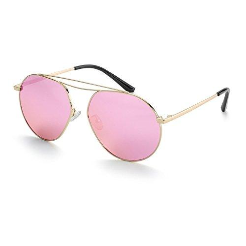 Volver Vintage Lente de Gafas Púrpura Sol Aviator Gold anteojos Accesorios TL polarizados Rose Sunglasses 5nqf08wxS