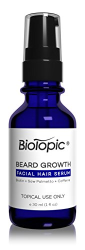 Biotopic Beard Growth Serum, Grow Your Beard Thicker, 1 Ounce (Best Beard Growth Serum)