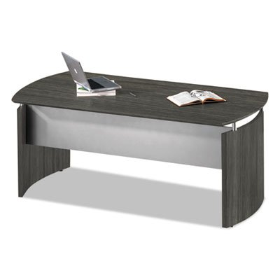 Medina Series Laminate Curved Desk Top, 72w x 36d x 29 1/2h, Gray Steel, Sold as 1 Each by Generic