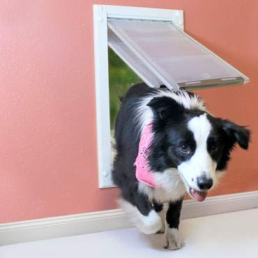 "Endura Flap Double Flap Wall Mount Pet Door- Large Flap (10"" x 18""), White"