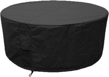 HBCOLLECTION Housse pour Salon/Table de Jardin Ronde diamètre Ajustable  130/170cm Polyester