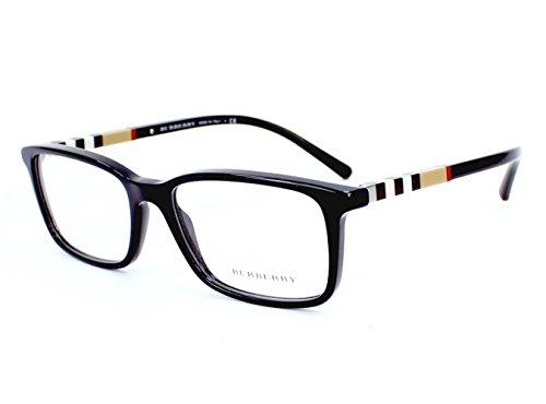 Burberry BE2199F Eyeglass Frames 3001-55 - Black BE2199F-3001-55