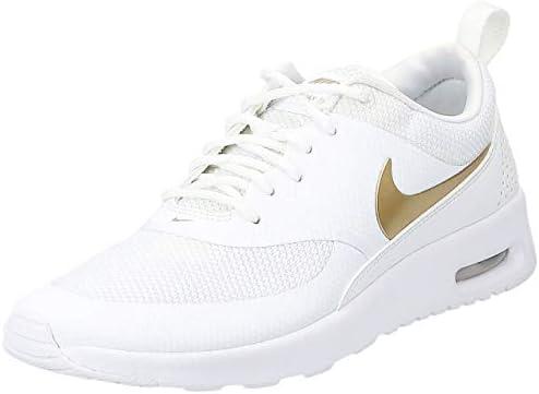 Nike Women's Air Max Thea J Sneaker, MTLC GoldWhite 100
