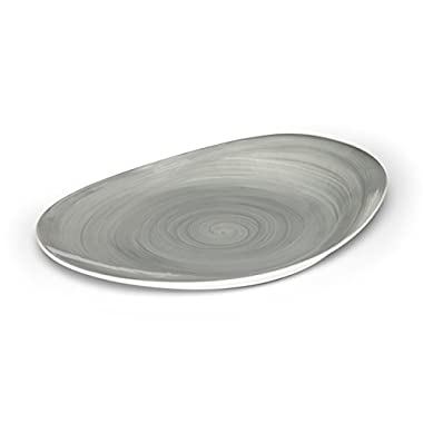Mikasa Savona Grey Oval Serving Platter, 14-Inch