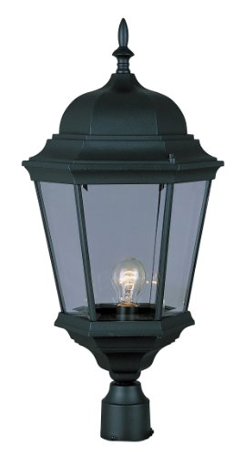 Post Black Cast Lantern - Trans Globe Lighting 51001 BK Outdoor Classical 26.75