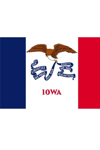Flag of Iowa: Journal; 160 Lined / ruled pages, 6x9 inch (15.24 x 22.86 cm) Laminated. ()