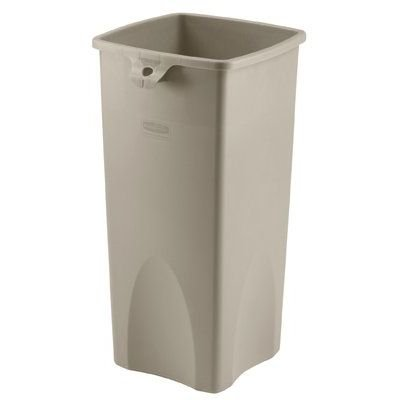 RCP356988BLA - Untouchable Waste Container, Square, Plastic, 23 Gal, Black by Rubbermaid