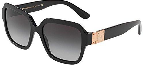 Dolce and Gabbana DG4336 501/8G Black DG4336 Square Sunglasses Lens Category 3 (Dolce Und Gabbana Herren Aviator Sonnenbrille)