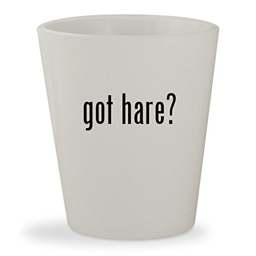 got hare? - White Ceramic 1.5oz Shot (Burke And Hare Costume)