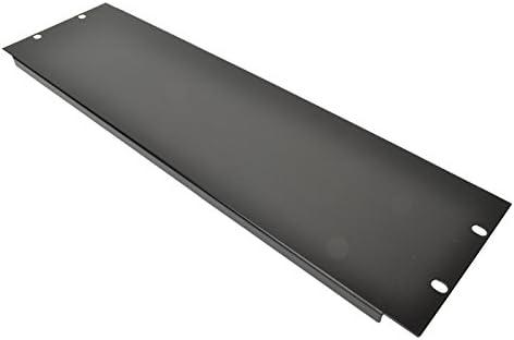 1 U 19 Blank Rack Panel With Black Finish