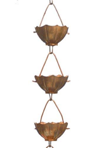 Monarch Pure Copper Umbrella Rain Chain Extension, 3 Feet (Copper Rain Chain Extensions)
