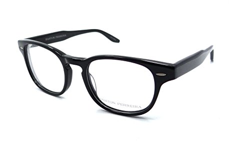 Barton Perreira RX Eyeglasses Frames Dempsey 49x20 Black / Silver Satin - Barton Perreira