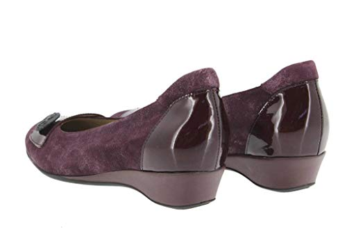 Carus 16 Casual De Bailarina Burdeos Cómodo Zapato Piesanto Ancho i 9725 Calzado Confort Mujer Piel U1xqFTq