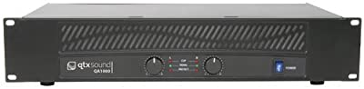 """AMP33 - QA SERIES QA1000 2 x 500W POWER AMPLIFIER DUAL CHANNEL OVERHEAT PROTECTION MULTIPLE INPUTS/OUTPUTS 2U 19"""" RACK MOUNTABLE by QTX"""