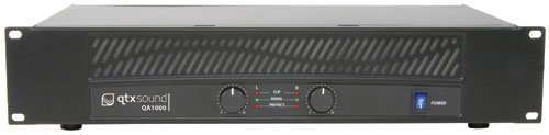 (AMP33 - QA SERIES QA1000 2 x 500W POWER AMPLIFIER DUAL CHANNEL OVERHEAT PROTECTION MULTIPLE INPUTS/OUTPUTS 2U 19
