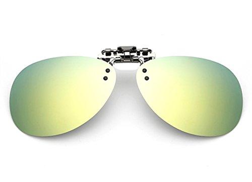 de up Sol amp; ELSA en ANNA Polarizado Mercurio Clip Unisex Flip VF Oro Hombre Gafas Las Mujer GLS04 IFqF7O