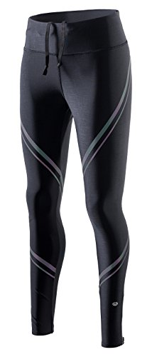 RION Active Women's Workout Yoga Running Compression Tights Tummy Control Leggings (Fan, ()