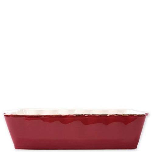 Vietri Italian Bakers Red Large Rectangular Baker