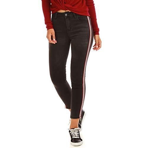 Slim 8 Noir Jeans me La Coupe dlav 7 Modeuse 7qOaExPwn