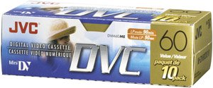 Jvc Mdv60Du10 Mini Digital Video Cassette (10-Pk) by JVC