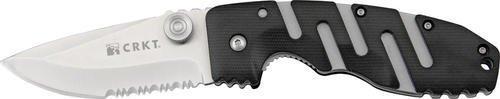 Handle Black Zytel Blade Combo - Columbia River Knife & Tool Ryan Model 7 Combo Edge Knife