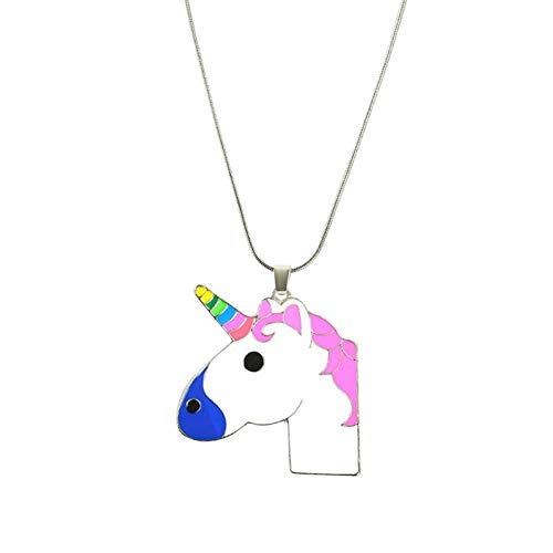 SXXDXL Unicorn Unicorn Pendant Chain Necklace Painted Horse Head Sweater Chain Wholesale