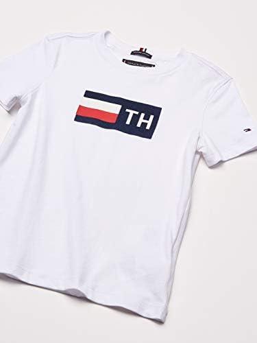 Tommy Hilfiger - Tommy HILFIIGER Camiseta KB0KB05265 Flock tee S/S - Camiseta Blanca NIÑO (12 AÑOS): Amazon.es: Ropa y accesorios