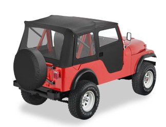 Bestop Jeep CJ CJ5 Bestop Supertop Soft Top Kit 55-75 Black