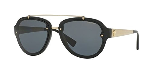 Versace Mens Sunglasses (VE4327) Black/Grey Plastic,Nylon - Polarized - - Black Shades Versace