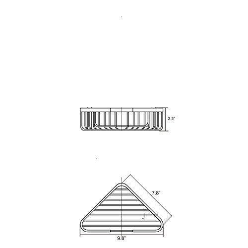 Corner Basket Shower by MAMOLUX ACC| Solid Brass Shower Basket Shelf Tidy Rack Caddy Storage Organizer|Space Saving Toiletries/Cosmetics Holder, Matte Black by Marmolux Acc (Image #4)