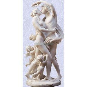 Zephyrus and Flora with cherub s statue marble sculpture god goddess greek New (Digital Angel Decor)