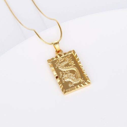 TM LeLeShop Amazing 18k Yellow Gold Filled Dragon Pendant Charms Necklace 18 Link Hot