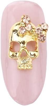 Amazon.com: Nails Art Accessories - 10Pcs 3D Nail Halloween Decoration Metal Skull Cushaw Charms Nail Accessories Rhinestones For Nails Rhinestones For Crafts Nail Jewels Nail Rhinestones And Charms - L03: Home Improvement