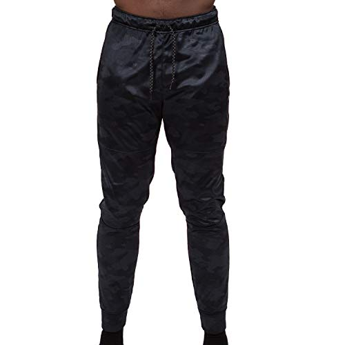 Layer 8 Men's Performance Tech Knit 2.0 Athletic Fleece Sweatpant (Small, Black Camo) (Knit Sweatpants)