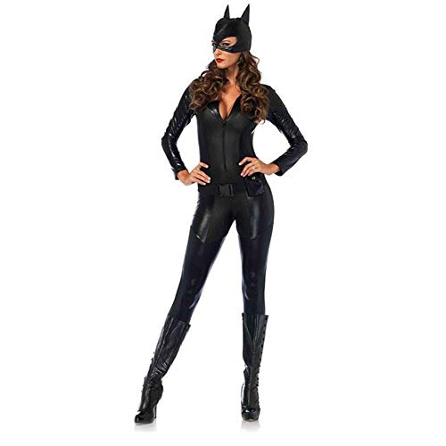 Máscara Wetlook Set Mujer Catsuit De Sexi Negro Disfraz Completo Catwoman mono dEzn7wnqx