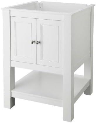 Foremost GAWA2422 Gazette 24-Inch Width x 22-Inch Depth Vanity Cabinet, White