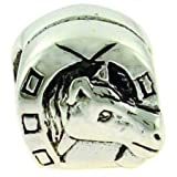 Biagi Horse Head in Horseshoe Sterling Silver Bead, Pandora Compatible