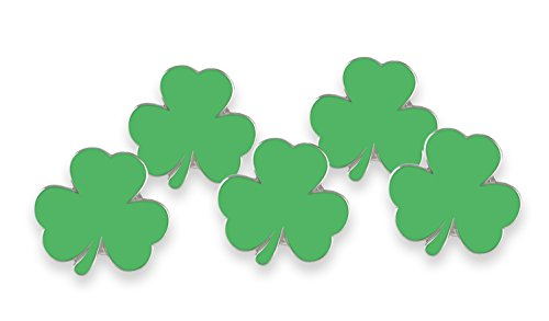 Forge Irish Green Shamrock Enamel Lapel Pin Saint Patrick's Day (Wholesale) (5 Pins)