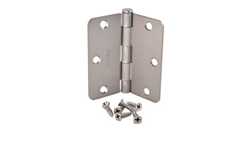 (Pack of 24) Kesler 3 1/2 Inch Satin Nickel Door Hinges (1/4