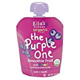 Ella's Kitchen Organic Smoothie Fruit Organic Baby Food - Purple One - blend of black currant, blueberry, apple and banana - 3 oz pouch