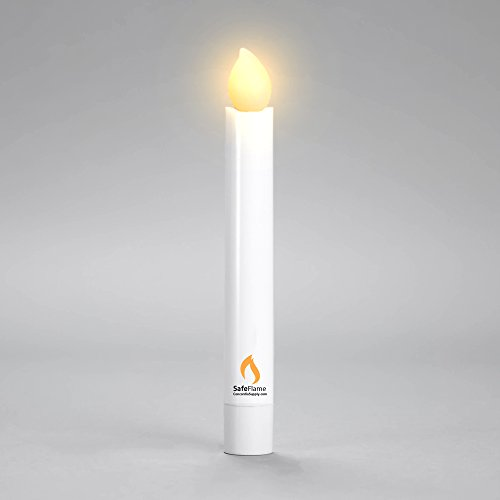 Hand Held LED Flickering Amber Battery Candles - Church Service, Candlelight Vigil (Pack of 25) - AAA Batteries Included