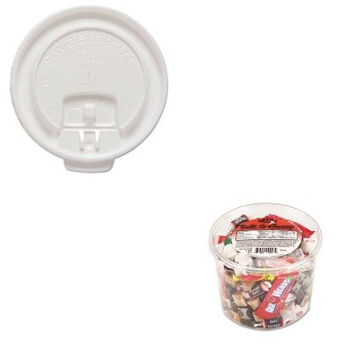 KITOFX00013SLODLX10RPK - Value Kit - Solo Liftback amp;amp; Lock Tab Cup Lids for Foam Cups (SLODLX10RPK) and Office Snax Soft amp;amp; Chewy Mix (OFX00013)