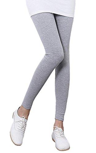 Women's Cotton Capri Leggings Activewear Yoga High Rise Workout 2 Pack Gray Pants For Women (Bella Ladies Fitness Pant)
