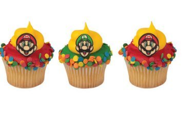 Bundleofbeauty Gh5514a 12pack Edible Sugar Shaped Super Mario Cupcake Decoration Toppers
